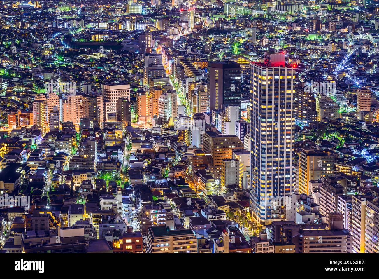Tokyo, Japan dense cityscape in Shinjuku Ward. - Stock Image