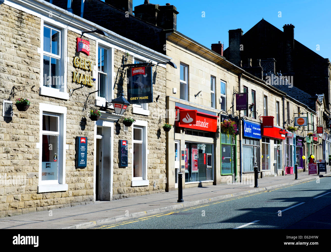 Street in Ramsbottom, Greater Manchester, England UK - Stock Image