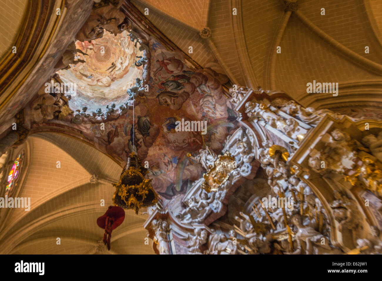 The Sacristy in St Mary's Cathedral Toledo - Stock Image
