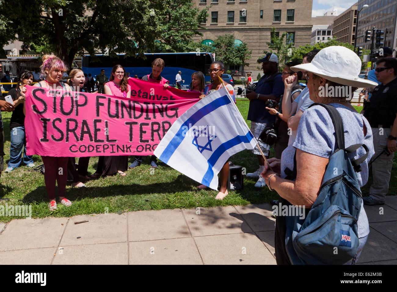 CodePink holding a pro-Palestine rally - Washington, DC USA - Stock Image