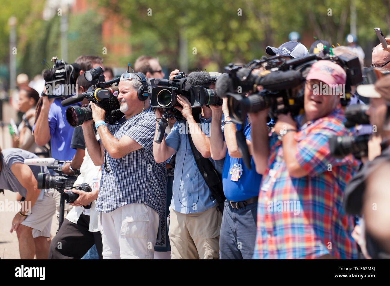 News cameramen covering an event - Washington, DC USA - Stock Image