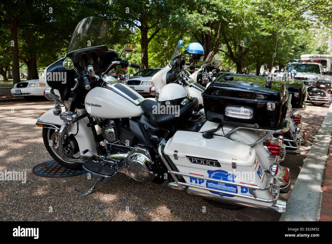 Washington, DC Metropolitan Police motorcycle - Stock Image