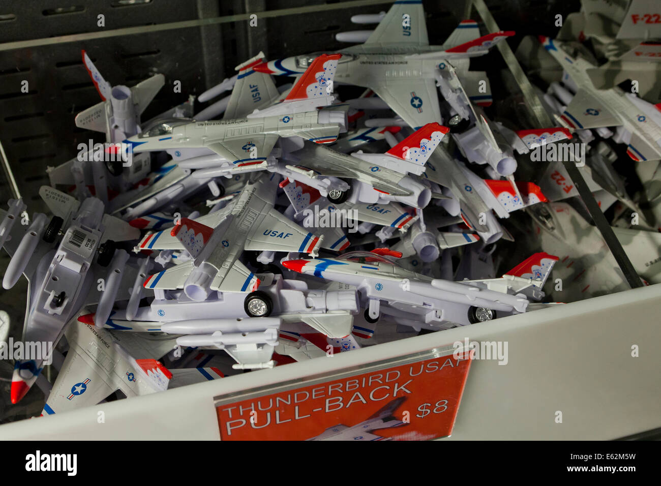 Toy model jets at toy store - USA - Stock Image