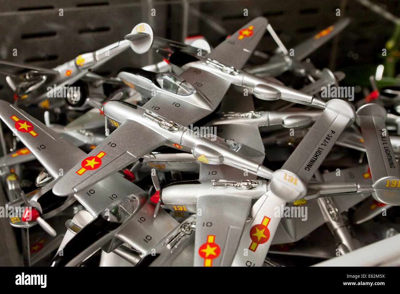 Toy model planes at toy store - USA - Stock Image