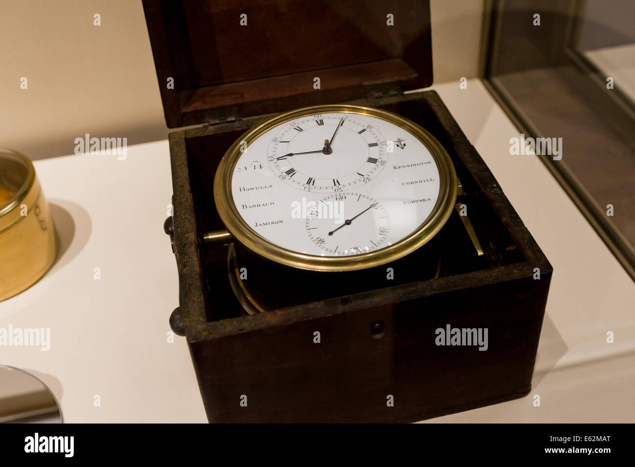 Thomas Mudge Marine Chronometer, 1802 - National Air and Space Museum, Washington, DC USA - Stock Image