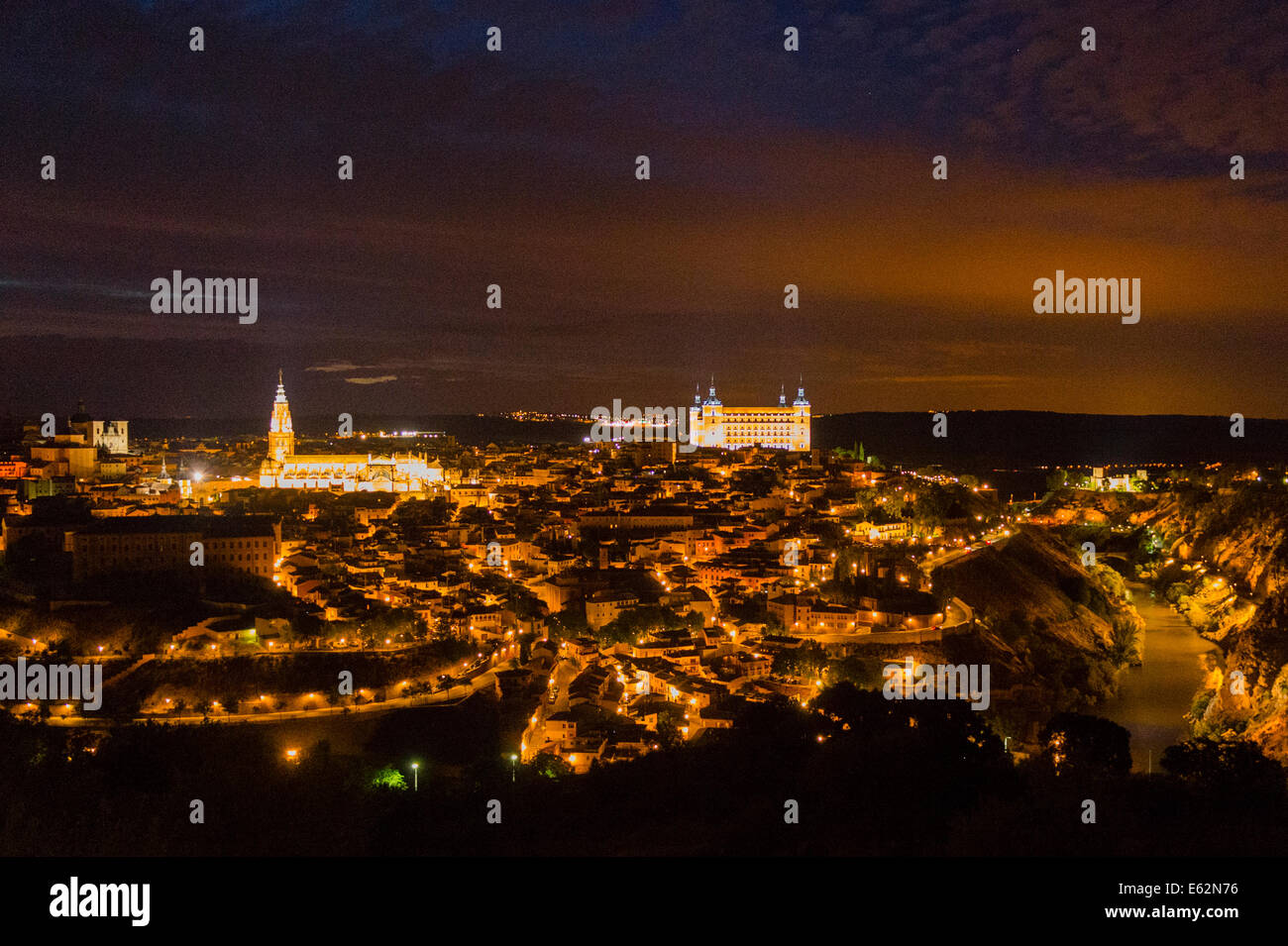 A view of Toledo from the Emperor's Hill - Stock Image