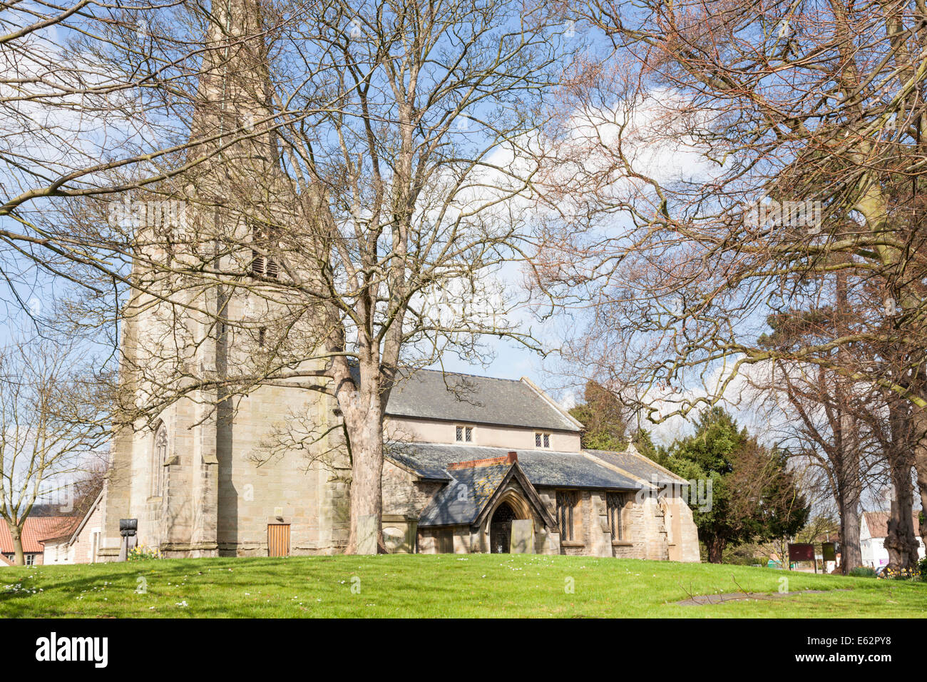 All Saints C of E Church, the village church at Cotgrave, Nottinghamshire, England, UK - Stock Image