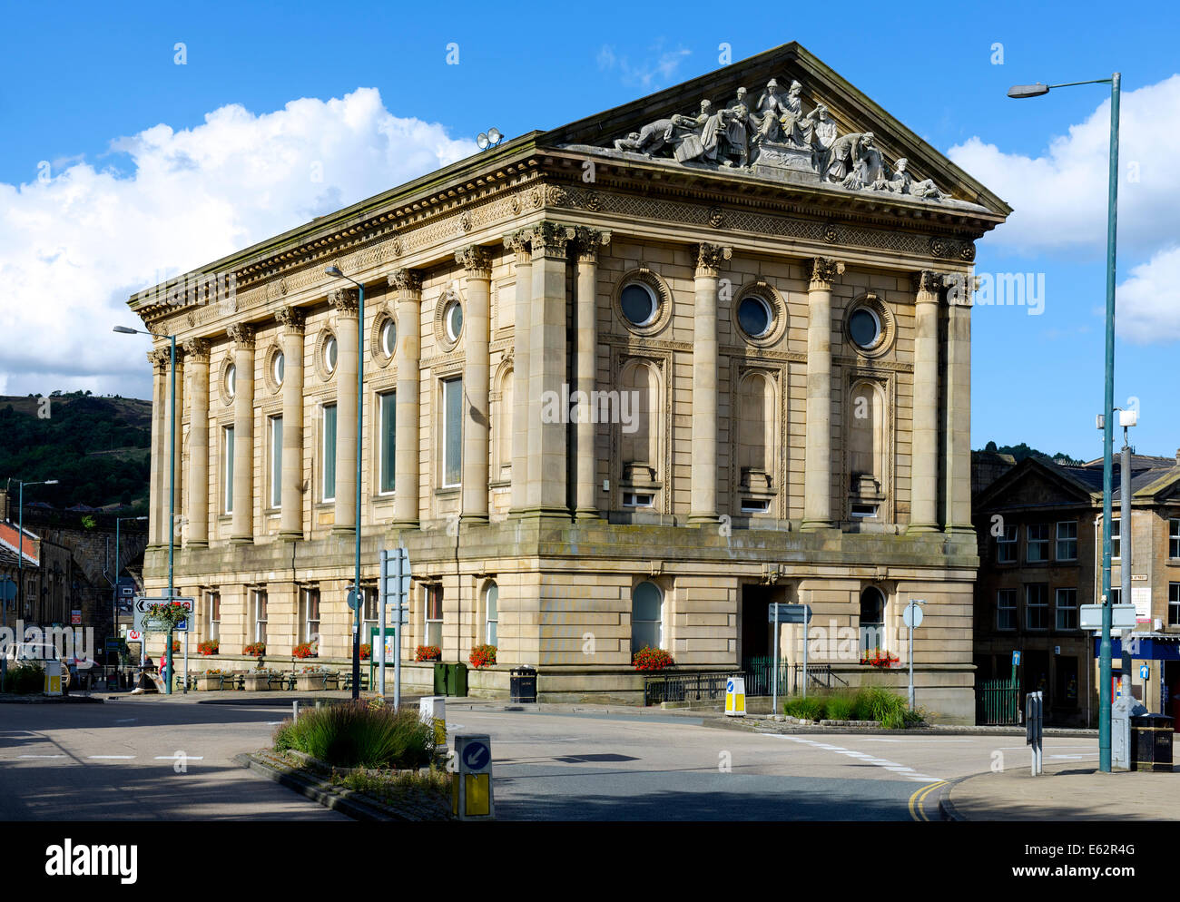 The Town Hall, Todmorden, West Yorkshire, England UK - Stock Image
