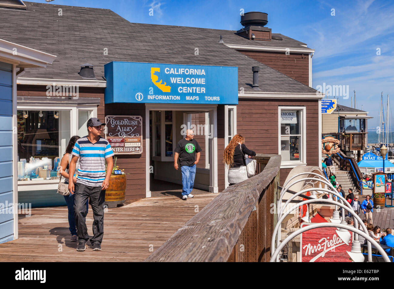 Office of the California Welcome Centre, Pier 39, San Francisco. - Stock Image