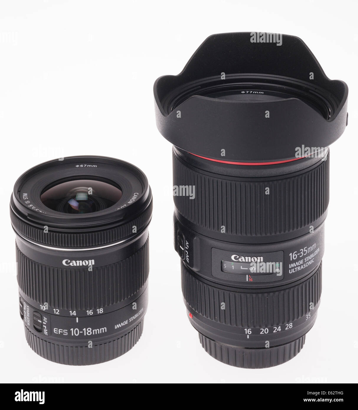 DSLR camera zoom lens design. Wide angle zooms for Canon APS-C (left ...