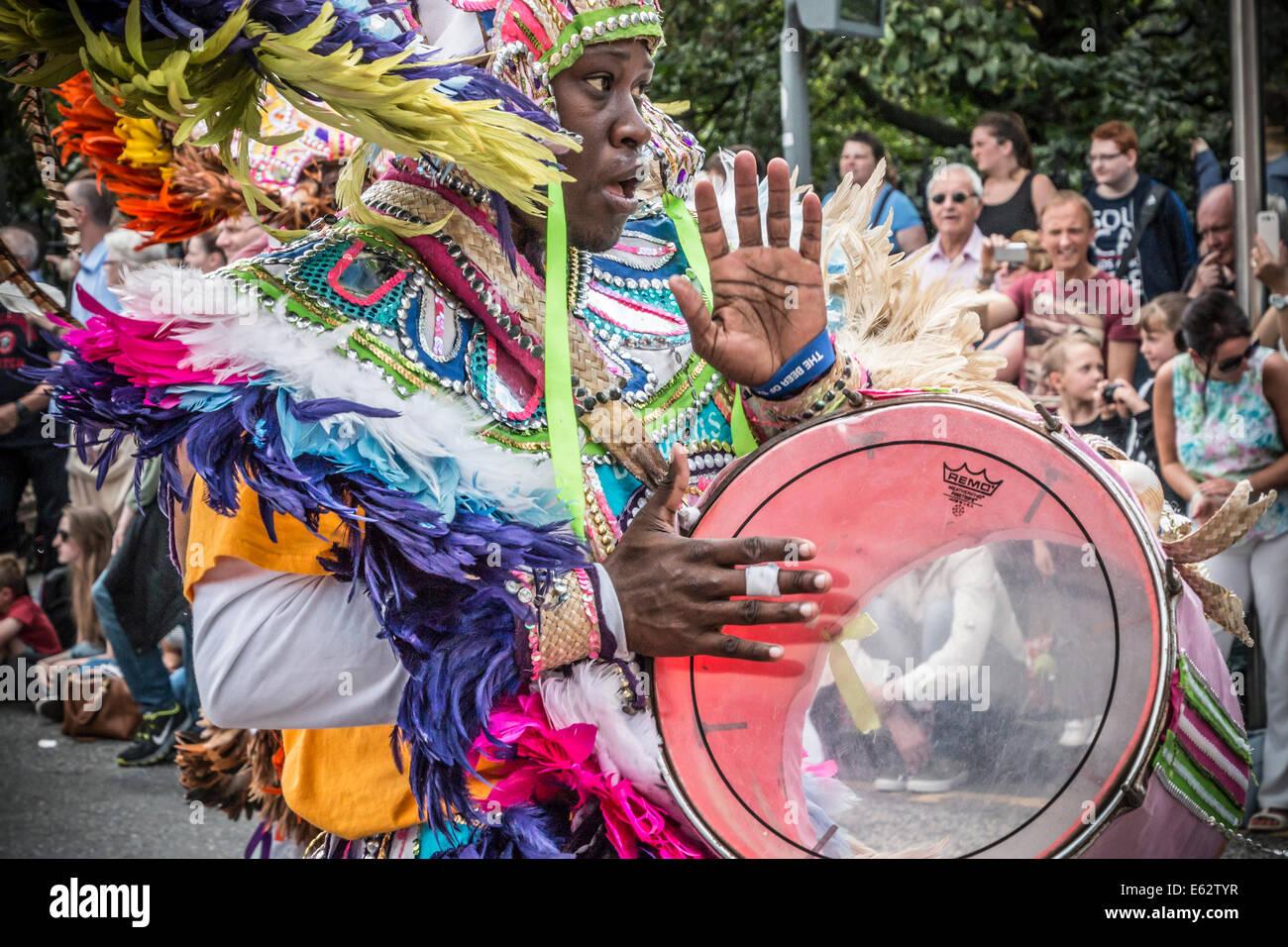 Edinburgh Jazz Festival and Carnival Parade 2014. Annual July event before the Edinburgh Festival and Fringe start. - Stock Image