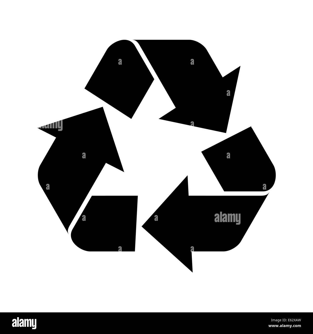 Recycle Symbol Black Stock Photos Recycle Symbol Black Stock