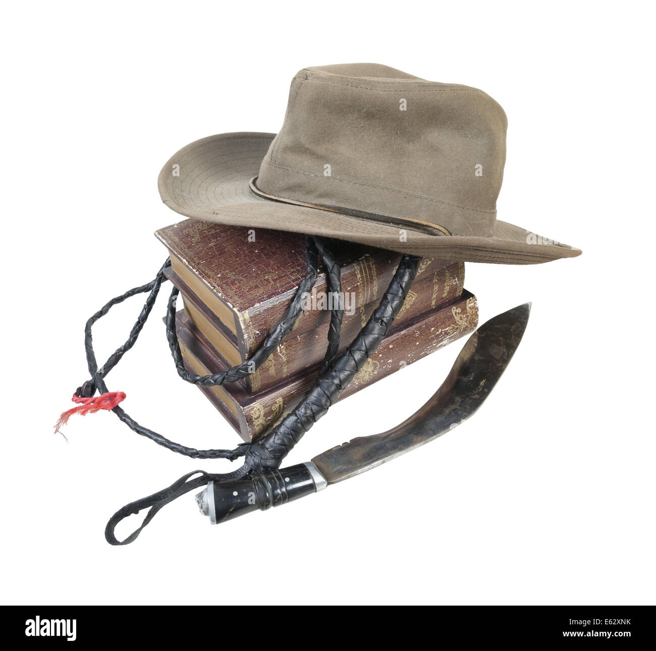 Adventure Books Aussie Hat Whip Dagger - path included - Stock Image