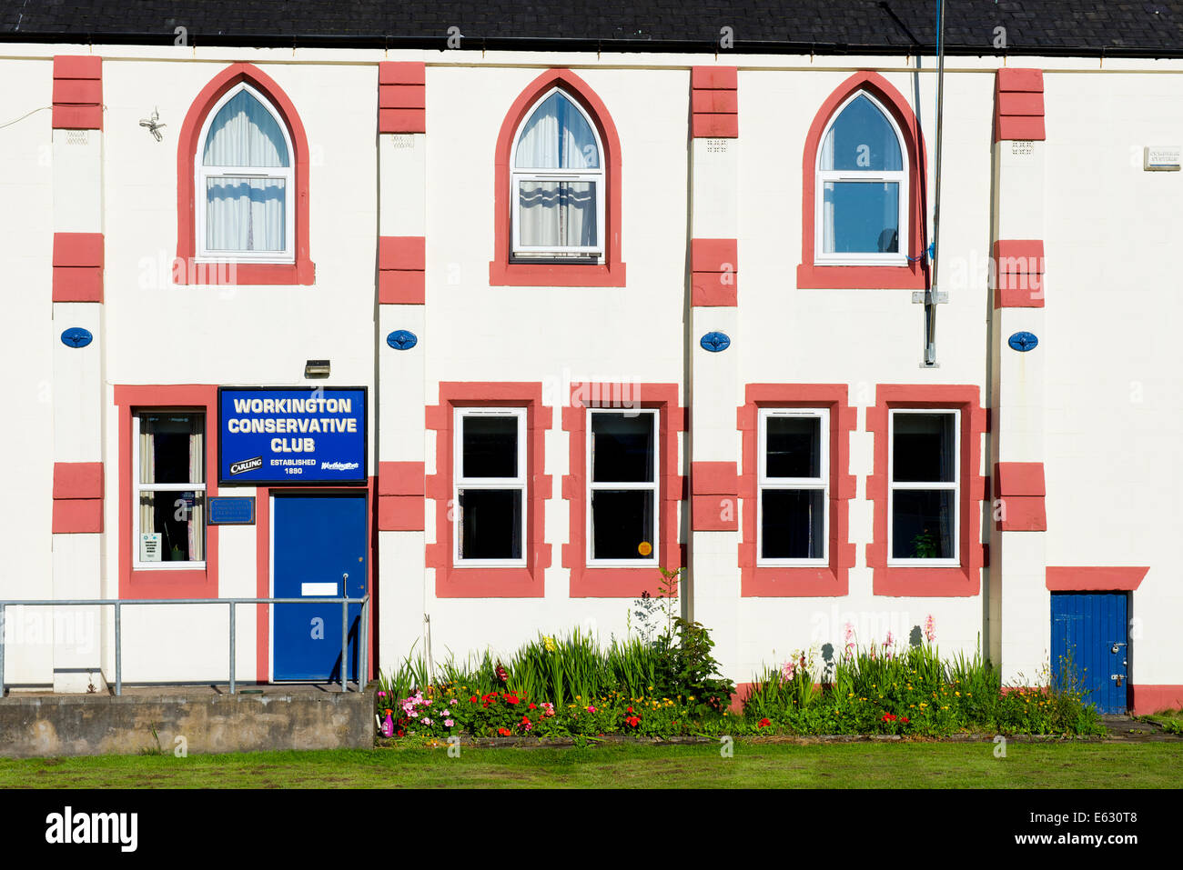 The Conservative Club in Workington, West Cumbria, England UK - Stock Image