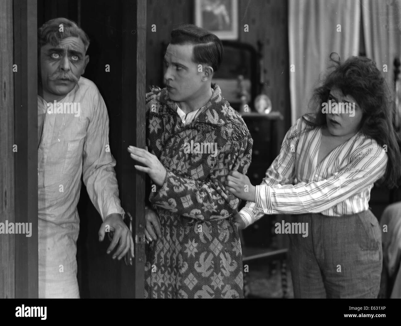 1910s 1920s sleepwalking older man discovered at bedroom door by