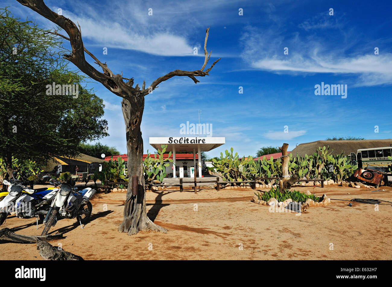 Solitaire, historically Areb, since 1848 a small private settlement on the same named farm, Namib-Naukluft National - Stock Image