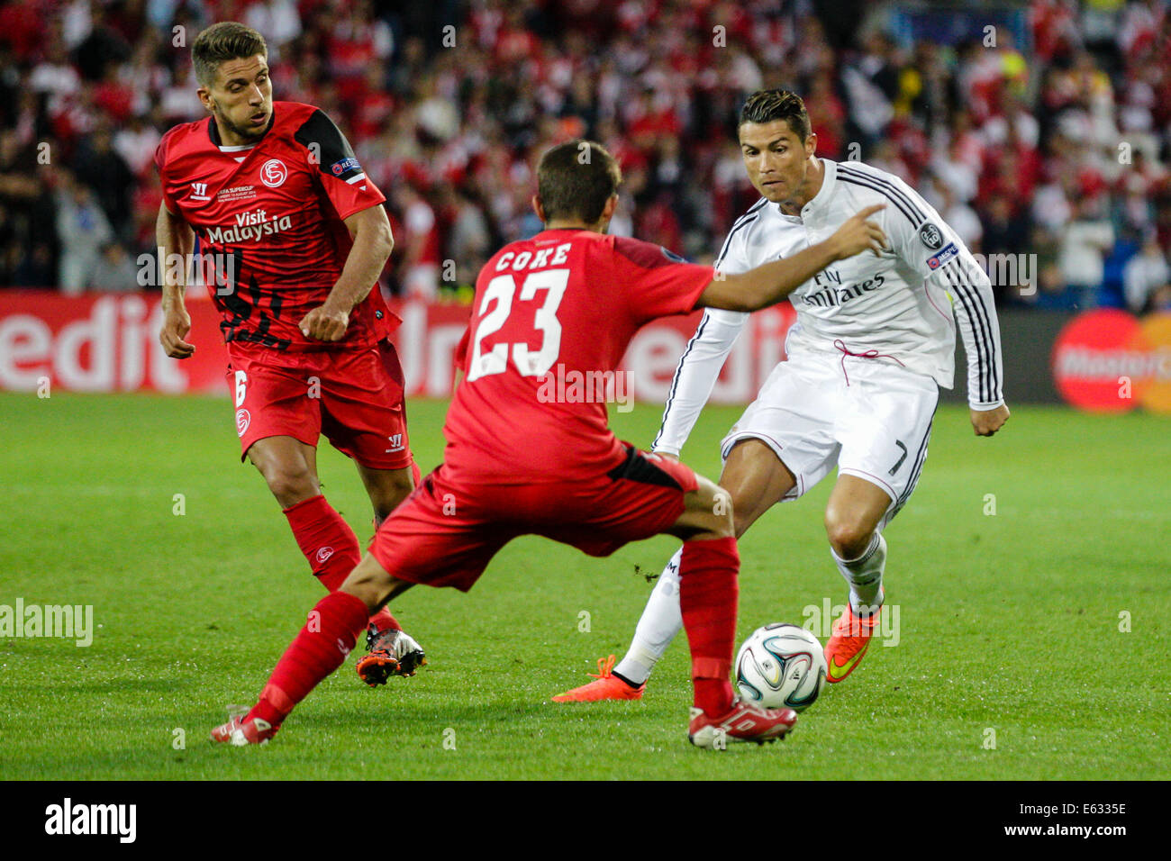 Cardiff Wales 12th Aug 2014 Uefa Super Cup Real Madrid Cf V Stock Photo Alamy