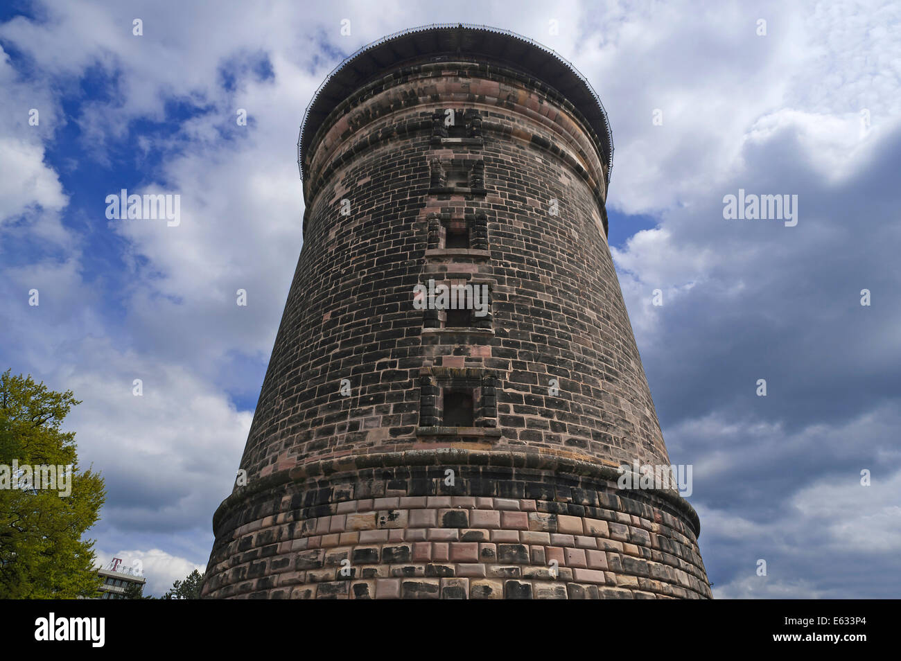 Laufer Schlagturm, gate tower of the city fortifications, around 1250, Nuremberg, Middle Franconia, Bavaria, Germany - Stock Image