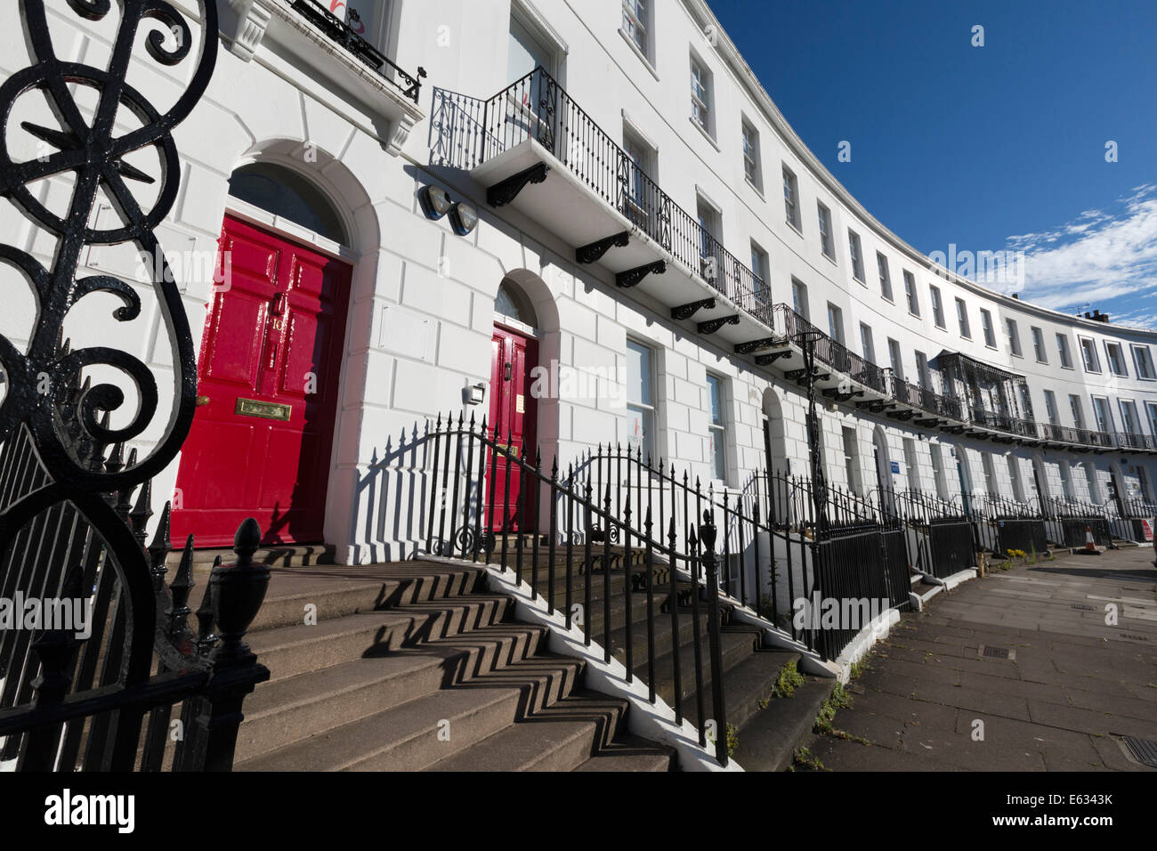 Royal Crescent, Cheltenham, Gloucestershire, England, United Kingdom, Europe Stock Photo