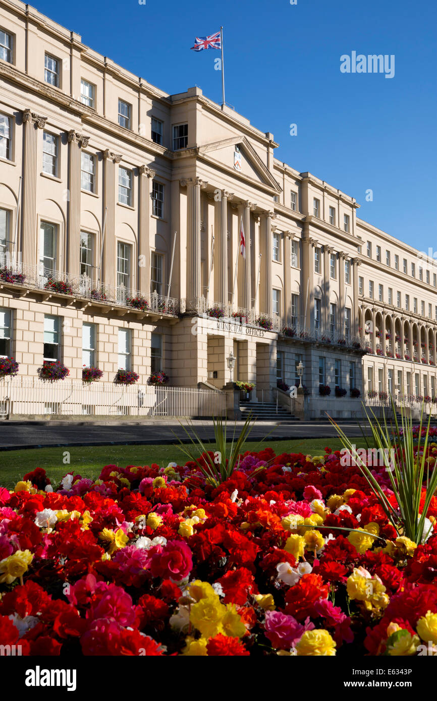 Municipal Offices, The Promenade, Cheltenham, Gloucestershire, England, United Kingdom, Europe - Stock Image