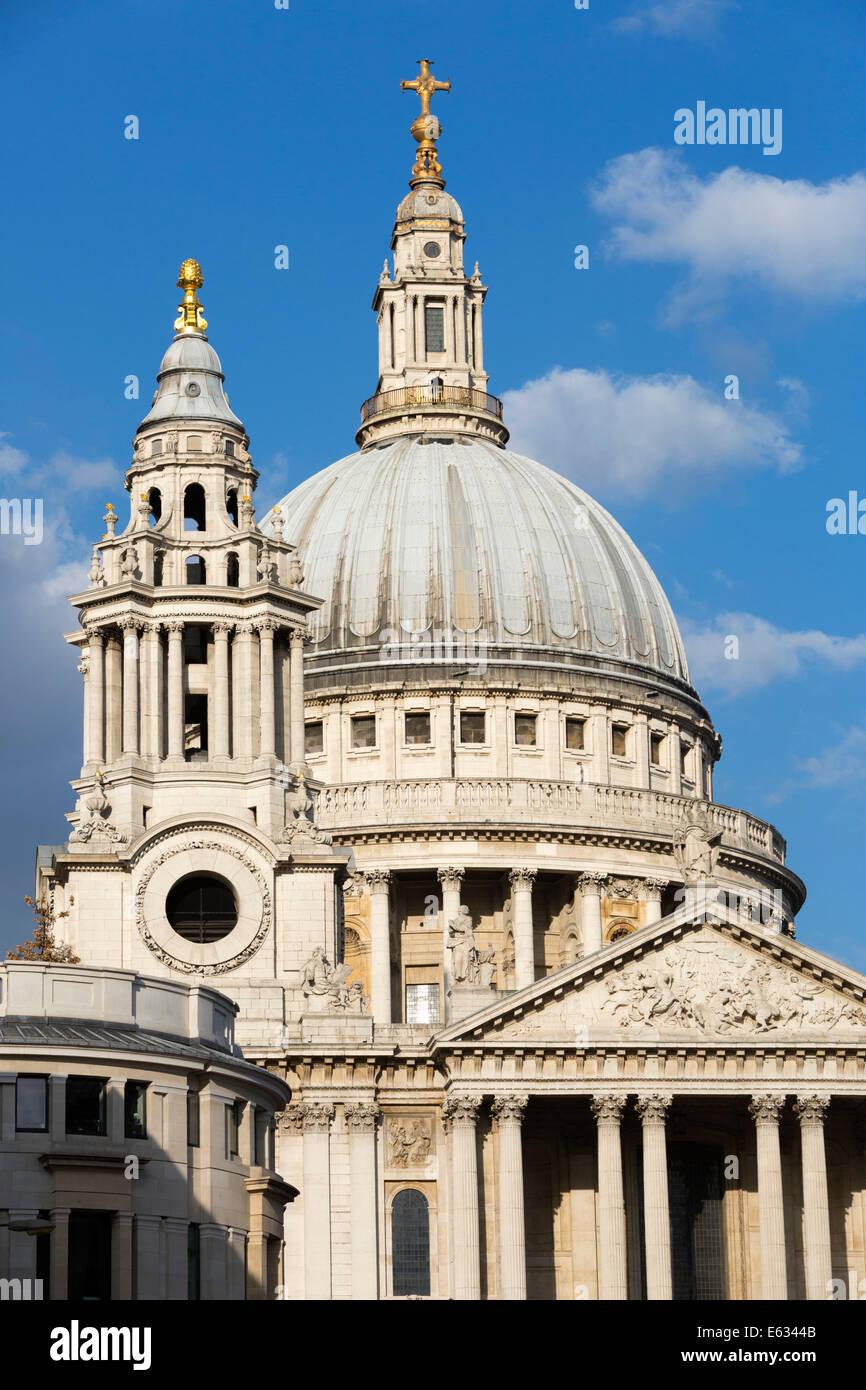 Dome of Saint Paul's Cathedral, London, England, United Kingdom, Europe Stock Photo