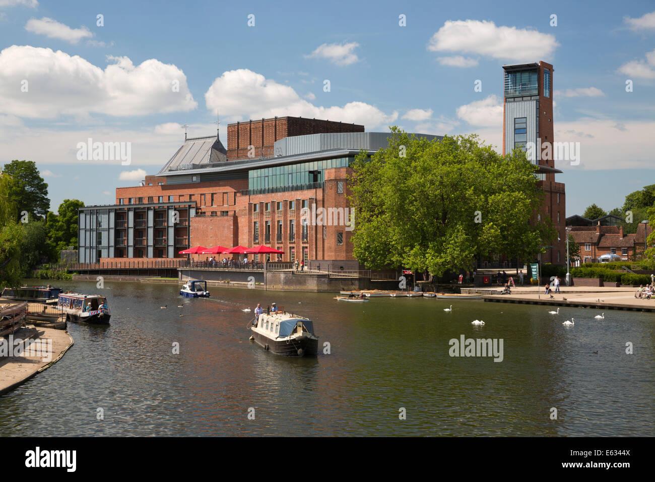 Royal Shakespeare Theatre on the River Avon, Stratford-upon-Avon, Warwickshire, England, United Kingdom, Europe - Stock Image