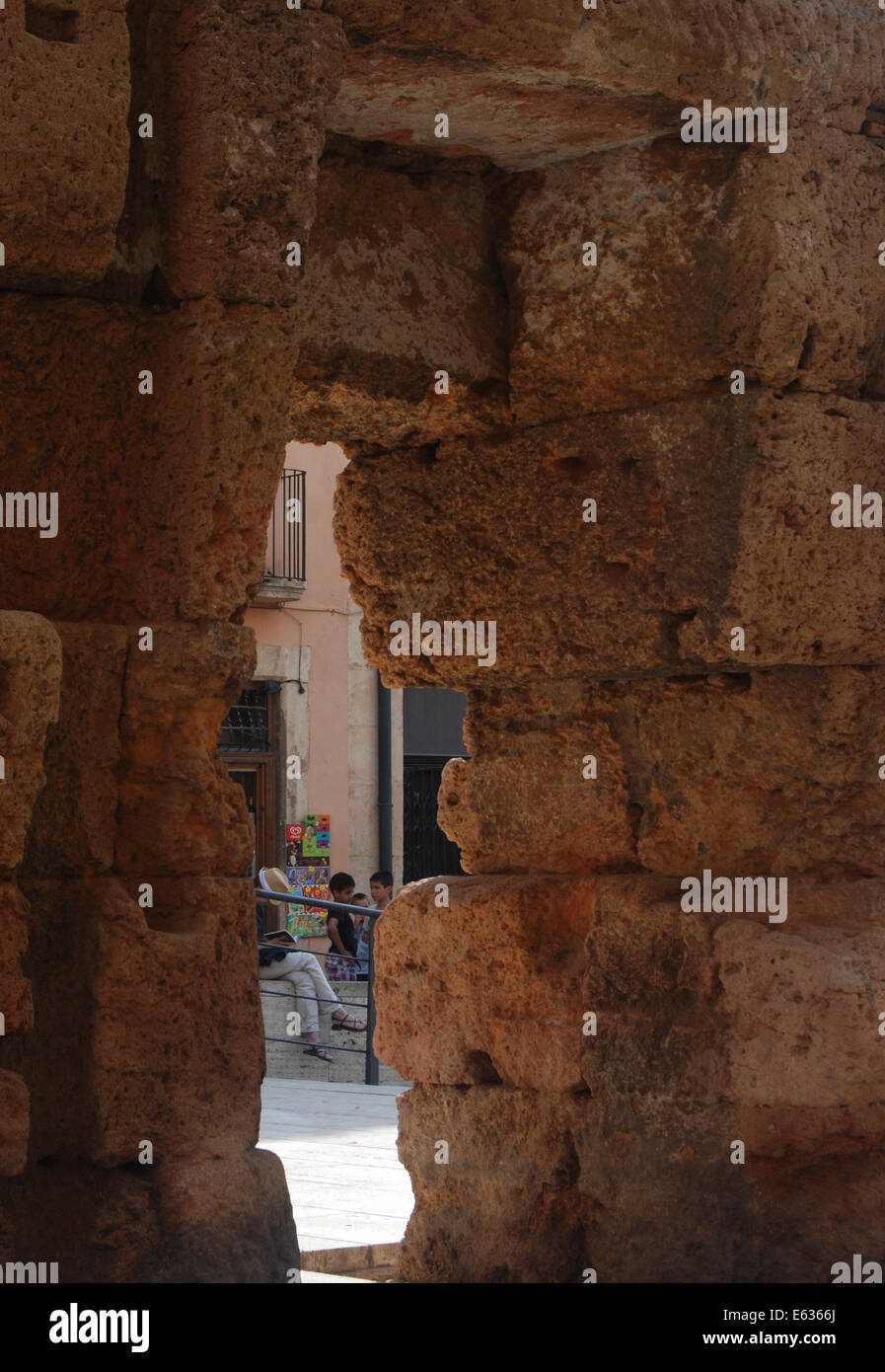 Catalonia hole in the wall. - Stock Image