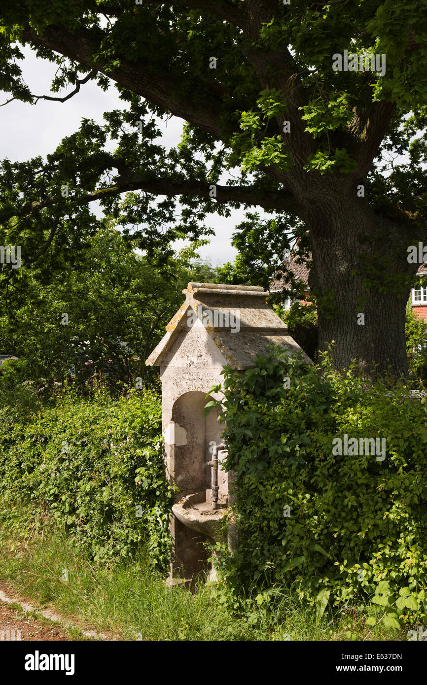 UK England, Dorset, Woolland, Victorian village water supply fountain - Stock Image