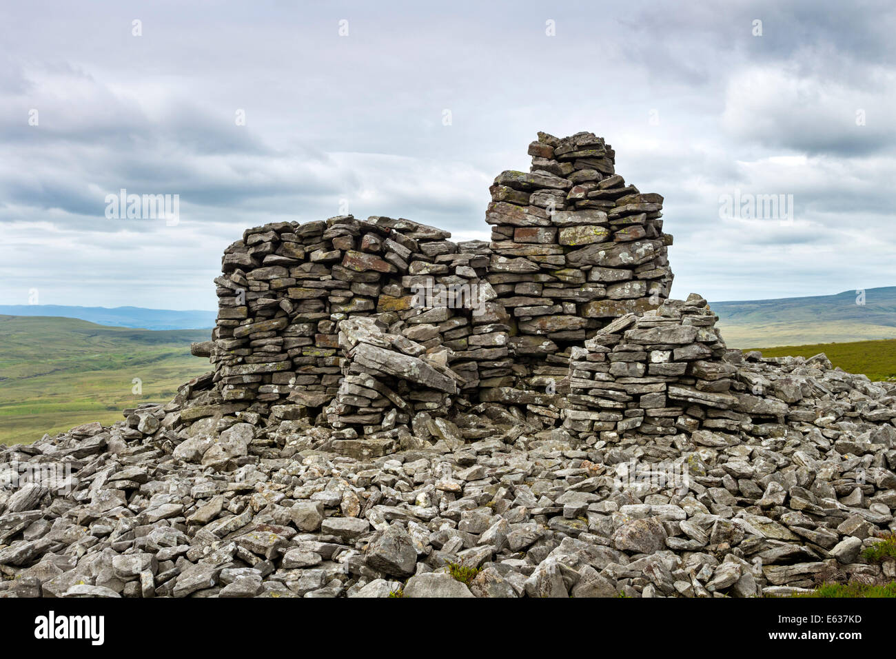 The Summit of Standards Hill Lunedale County Durham England UK - Stock Image