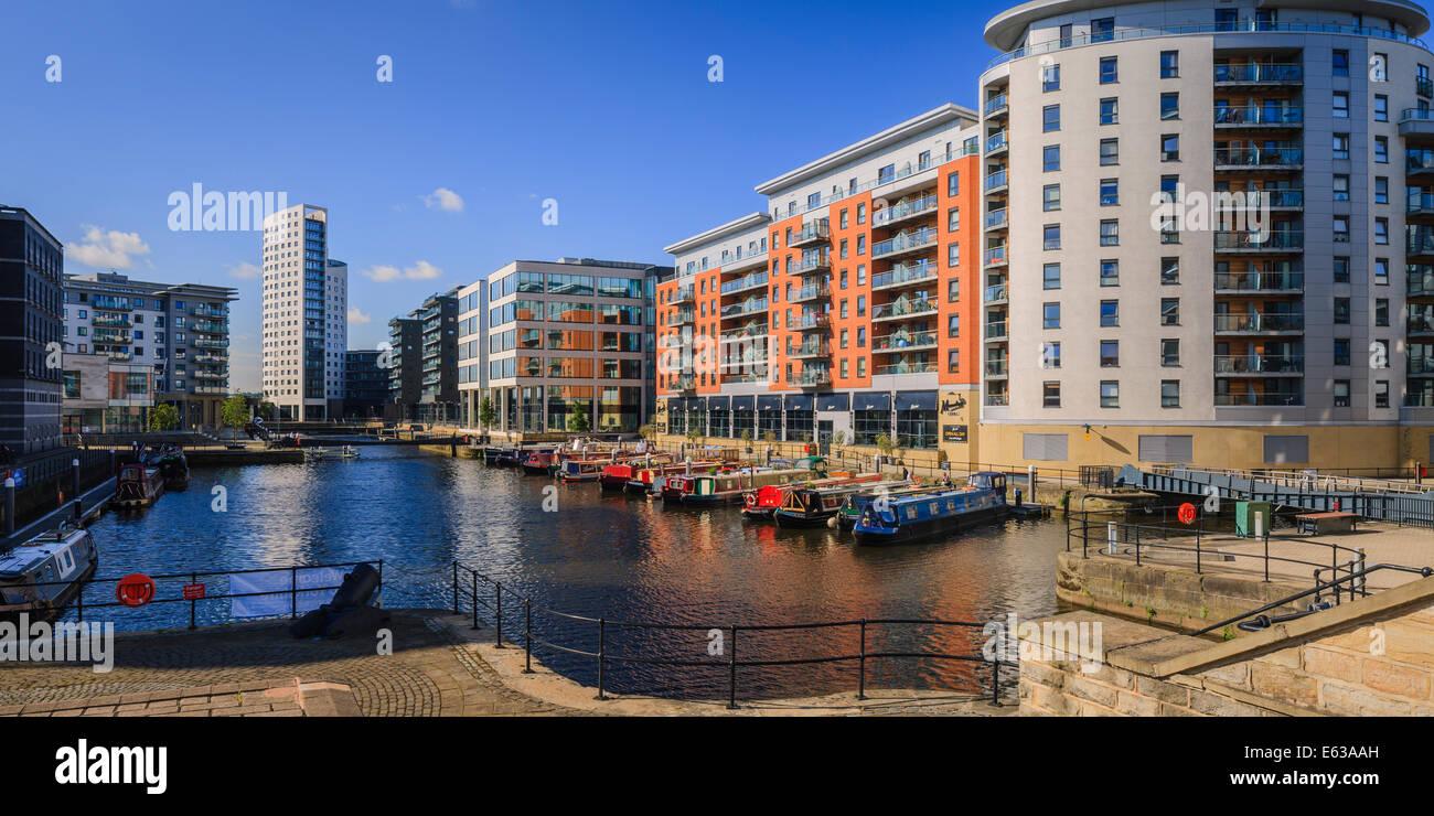 Clarence Dock Leeds West Yorkshire England - Stock Image