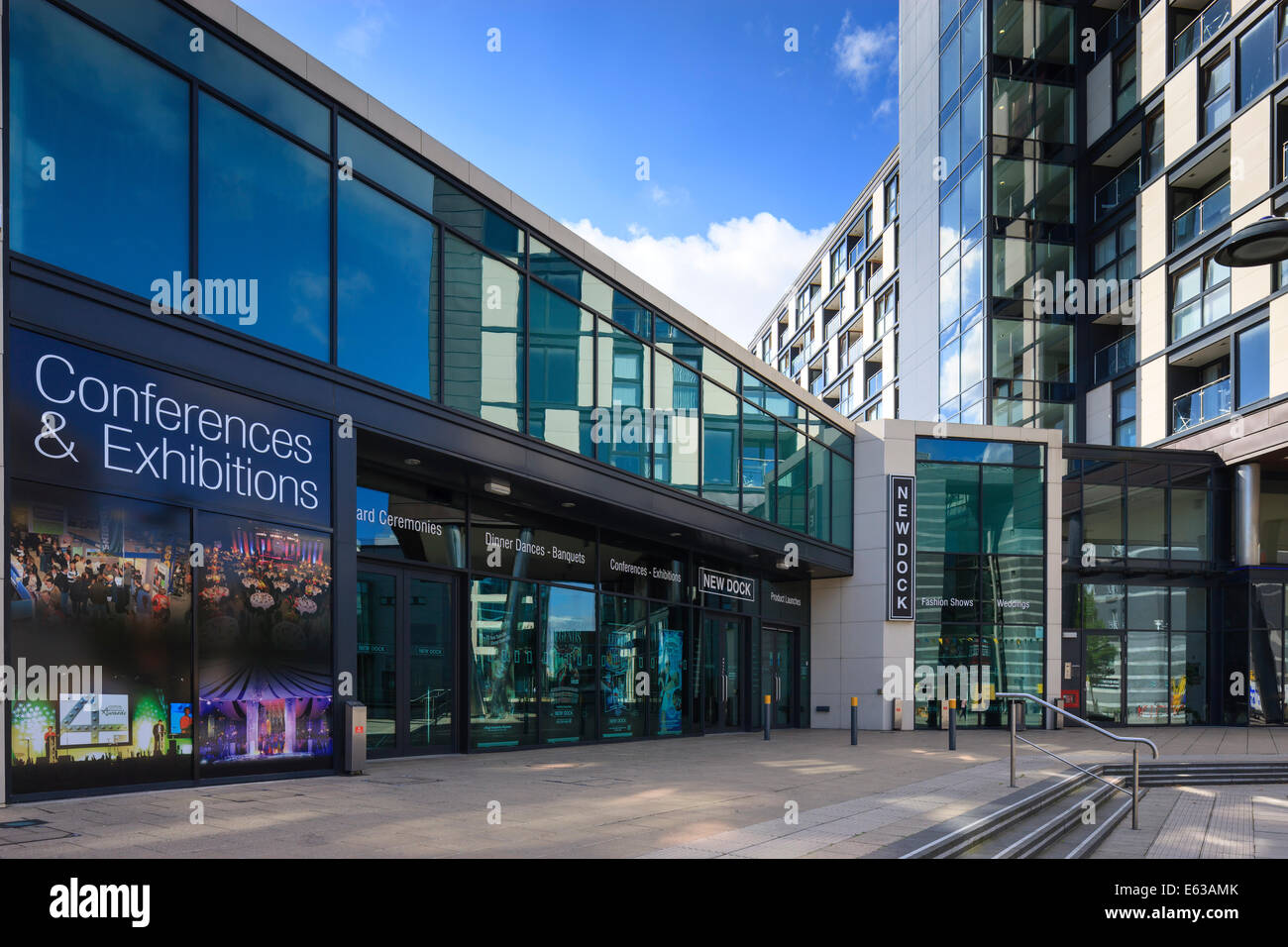Conference Centre Royal Armouries Museum Clarence Dock Leeds West Yorkshire England - Stock Image