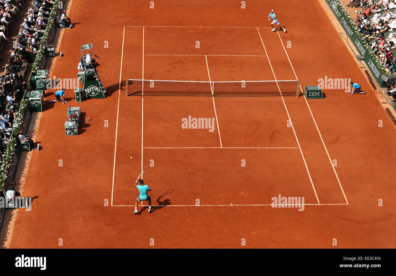 Men`s Final of the French Open 2014, Roland Garros,Paris,France - Stock Image