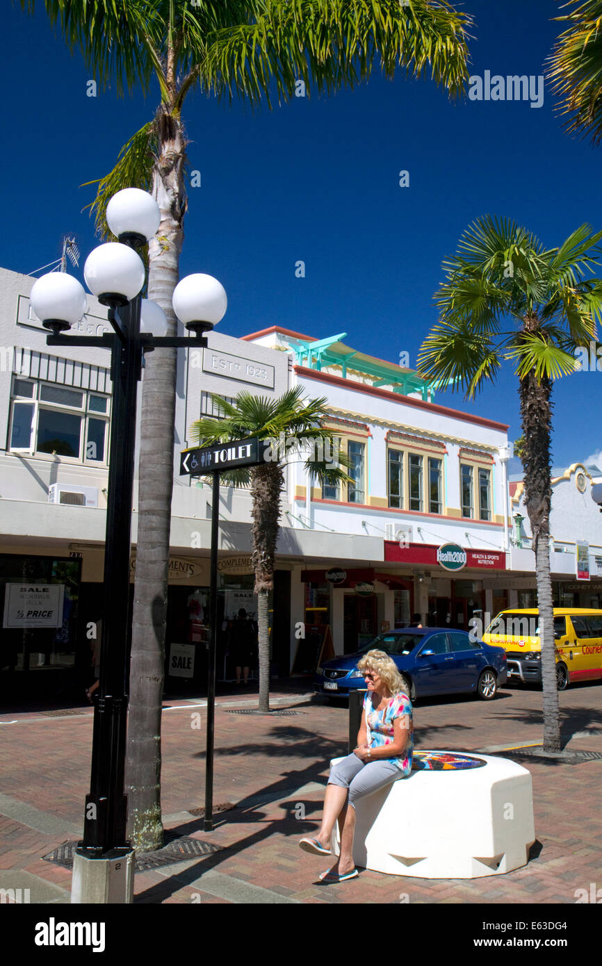 Art deco building at Napier in the Hawke's Bay Region, North Island, New Zealand. - Stock Image