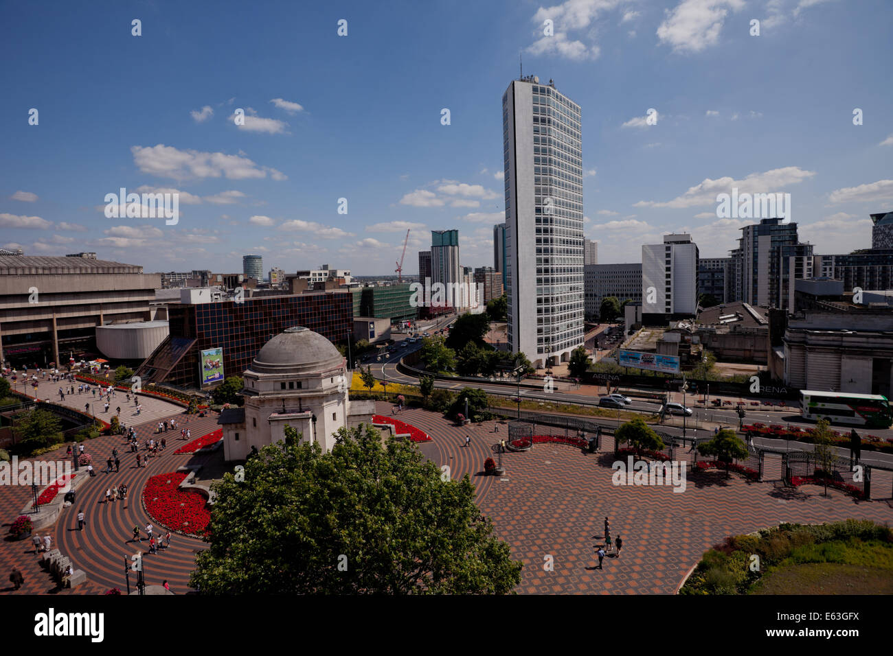 View over the city of Birmingham, UK, from the Library of Birmingham. - Stock Image