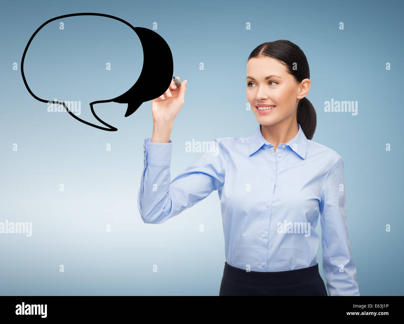 Woman Thought Bubble Future Stock Photos Woman Thought