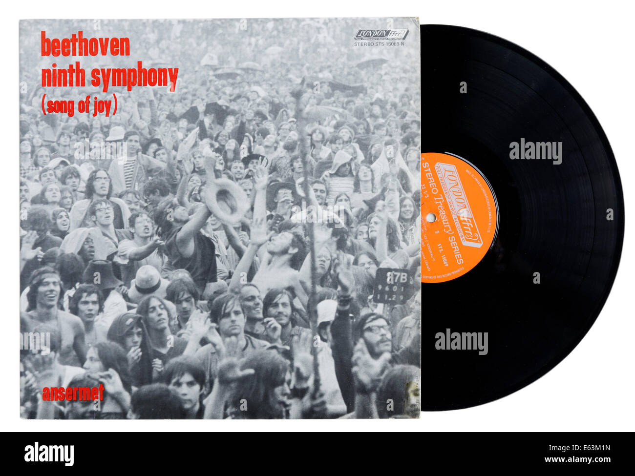 Beethoven's 9th on vinyl - Stock Image