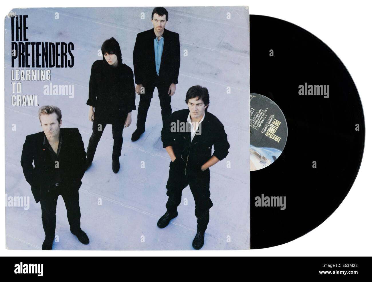 The Pretenders Learning to Crawl album - Stock Image