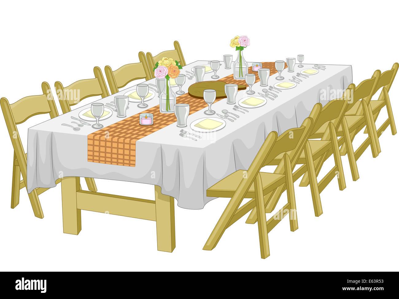 Illustration Featuring An Informal Rehearsal Dinner