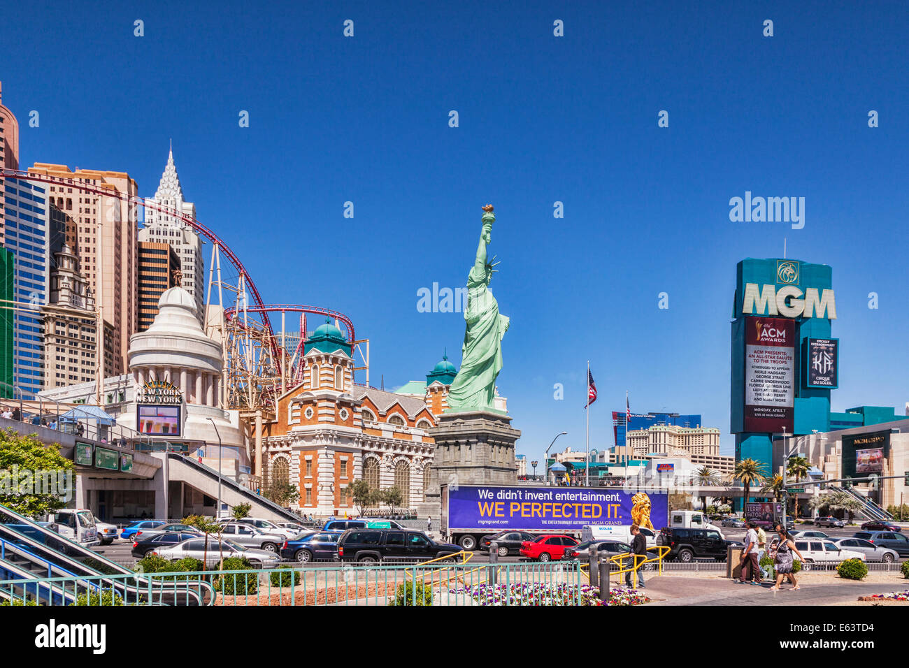 A view of the Las Vegas Strip - Stock Image