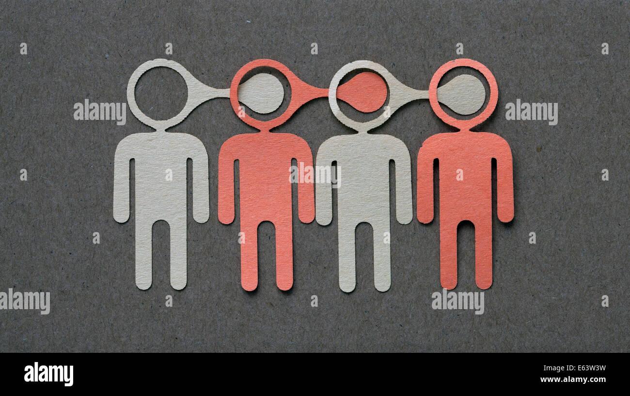 affiliate marketing - viral information spreading - Stock Image