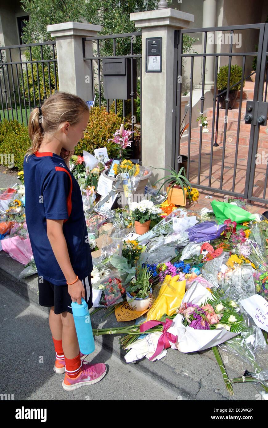 Tiburon, CA, USA. 13th Aug, 2014. August 13th, 2014 Tiburon, Calif. USA. daughter of one of Robin Williams neighbors - Stock Image