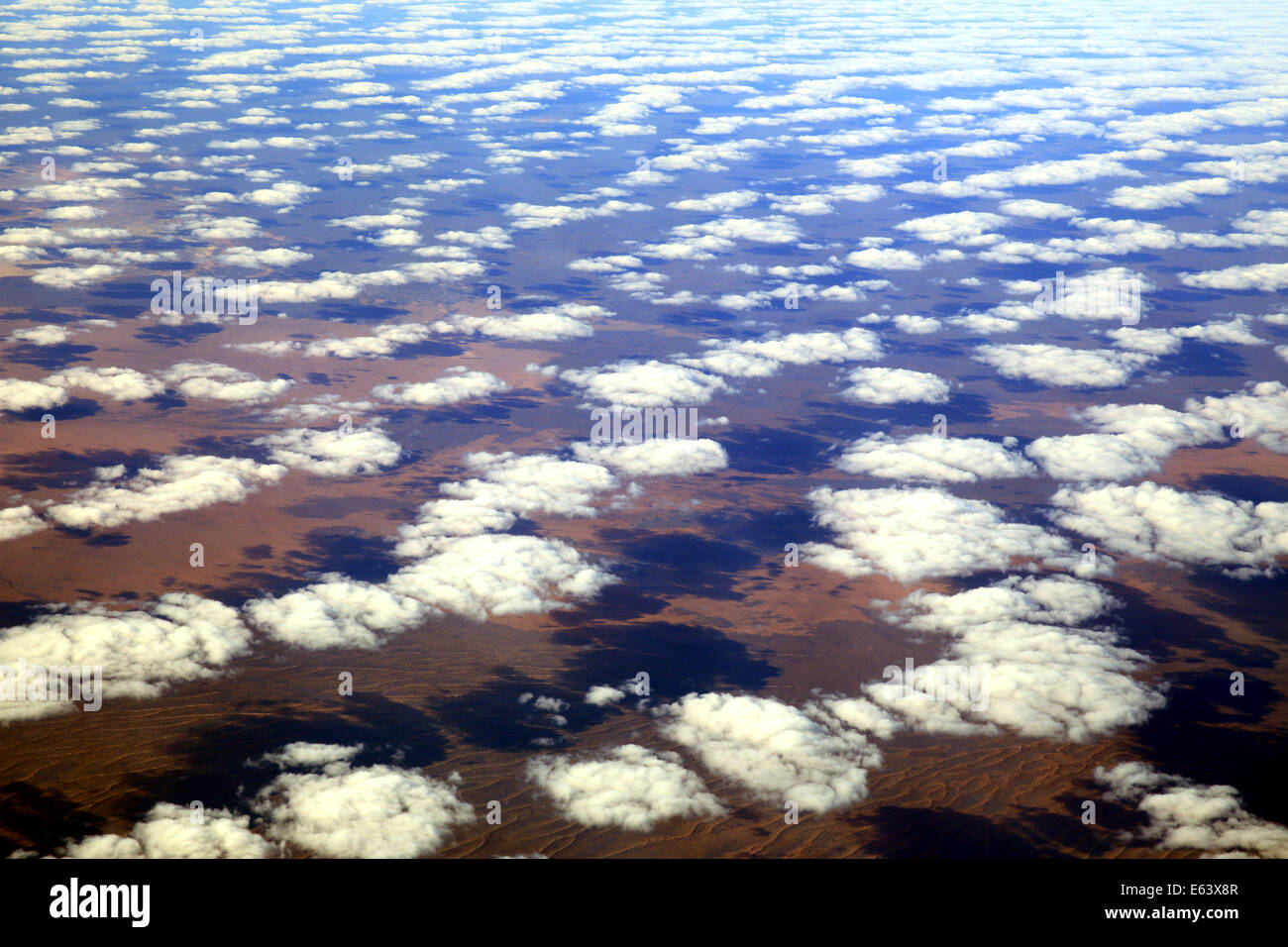 Clouds floating across outback Australia - Stock Image