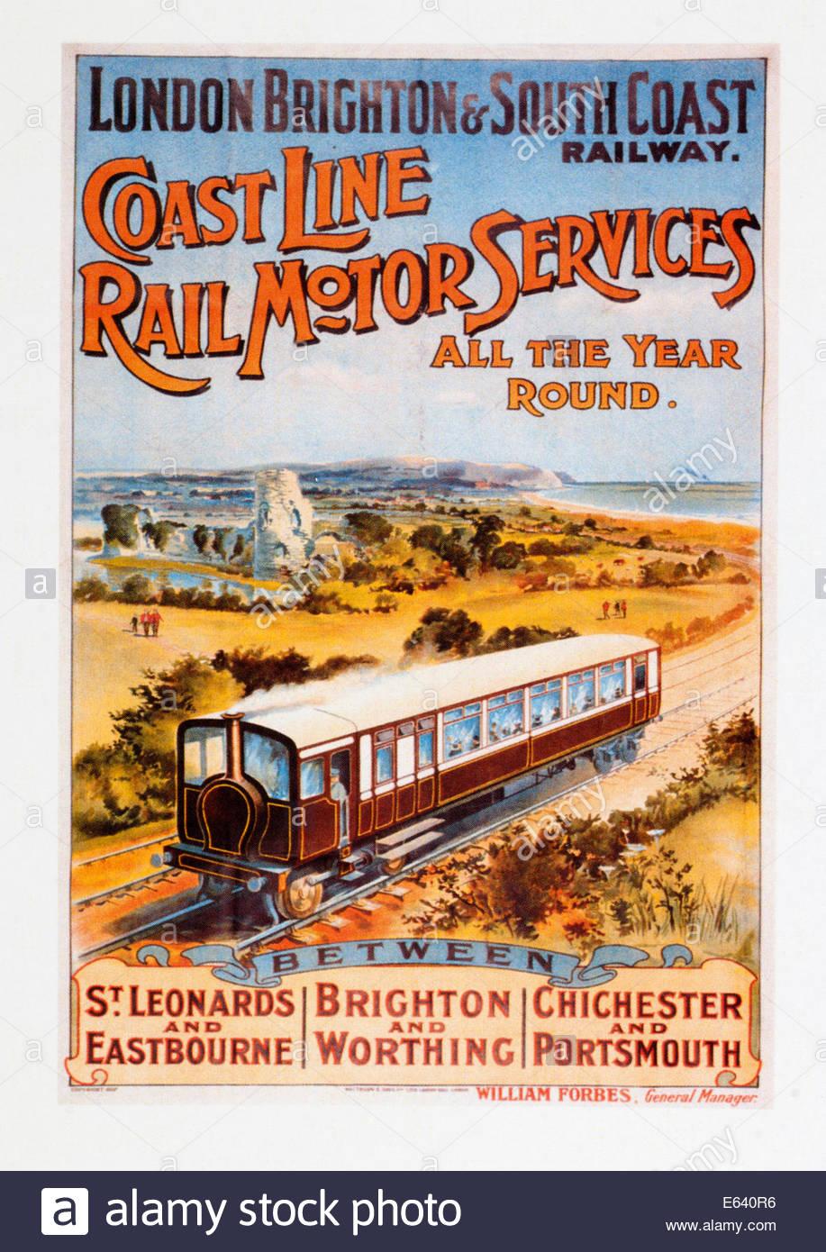 Vintage Transport Railway Rail Travel Poster RE PRINT Fleetwood