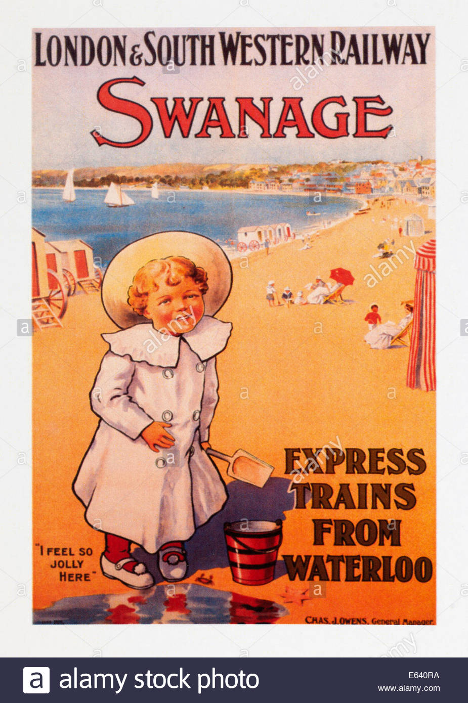 Vintage travel poster advertising London and South Western ...