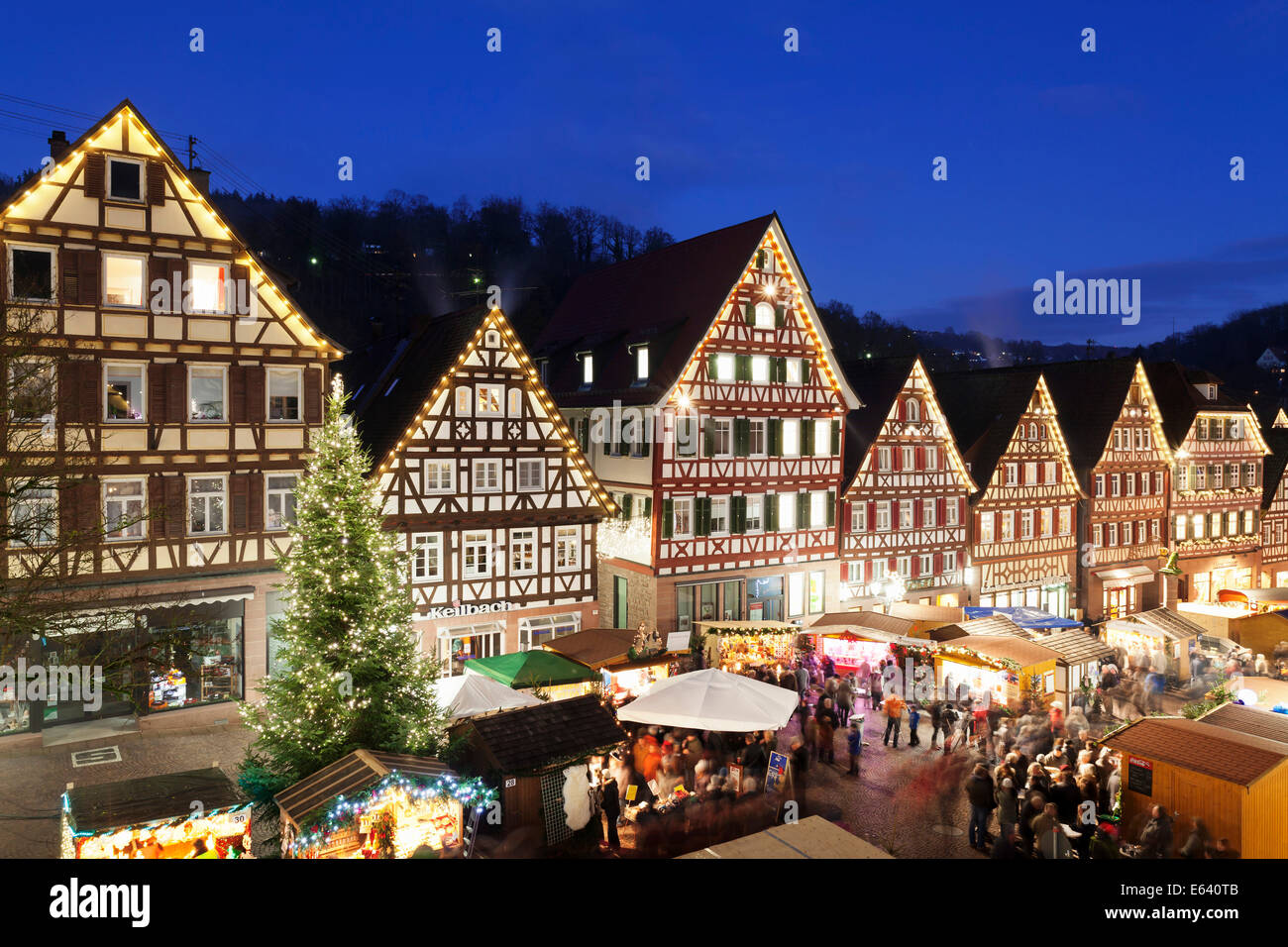 Houses Decorated For Christmas Christmas Market Calw Black Forest Baden W 252 Rttemberg