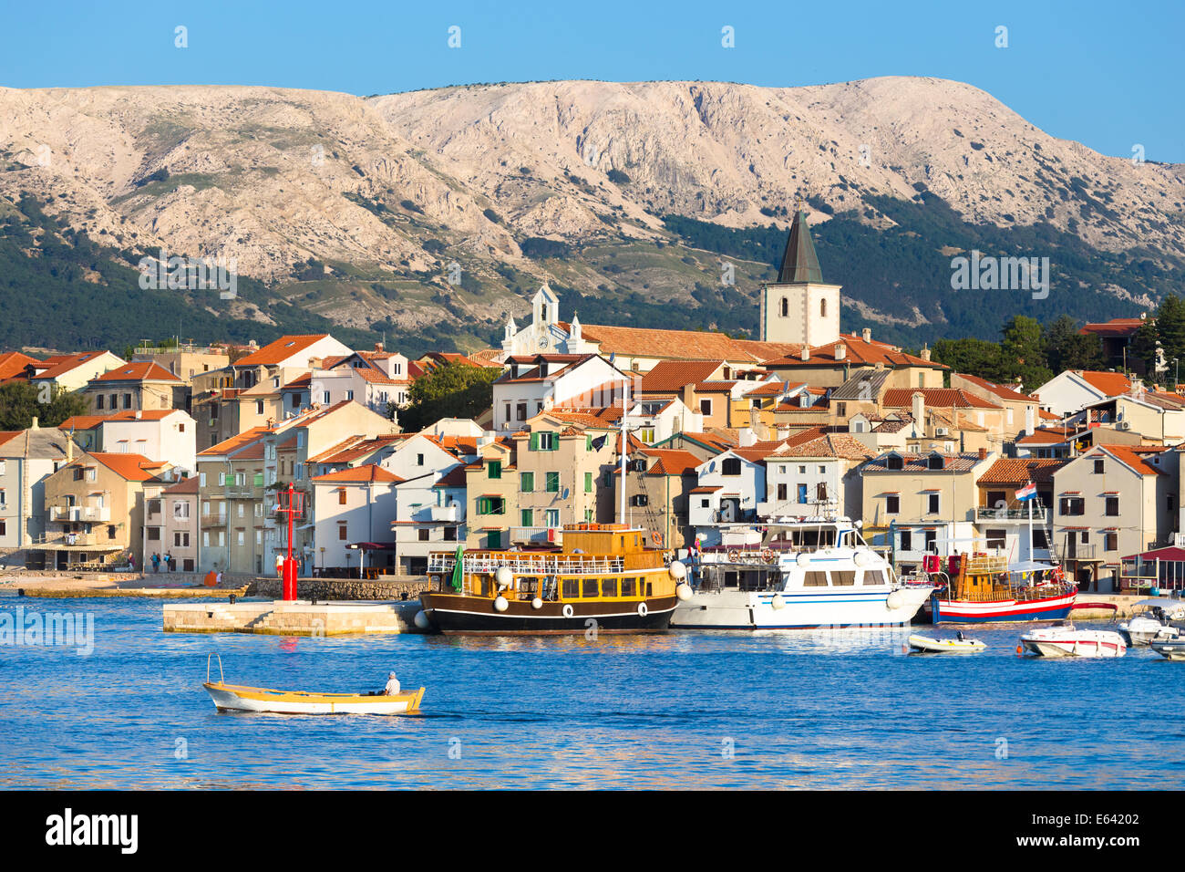 Baska, Krk, Croatia, Europe. - Stock Image
