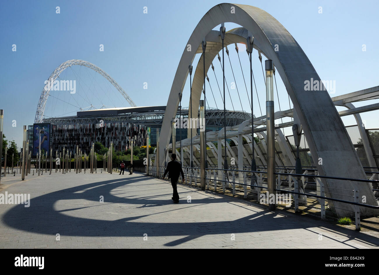 Wembley Stadium, from Wembley Station Bridge - Stock Image