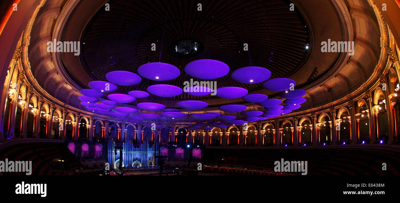 Acoustic sound panels in the roof of the Royal Albert Hall, London, UK - Stock Image