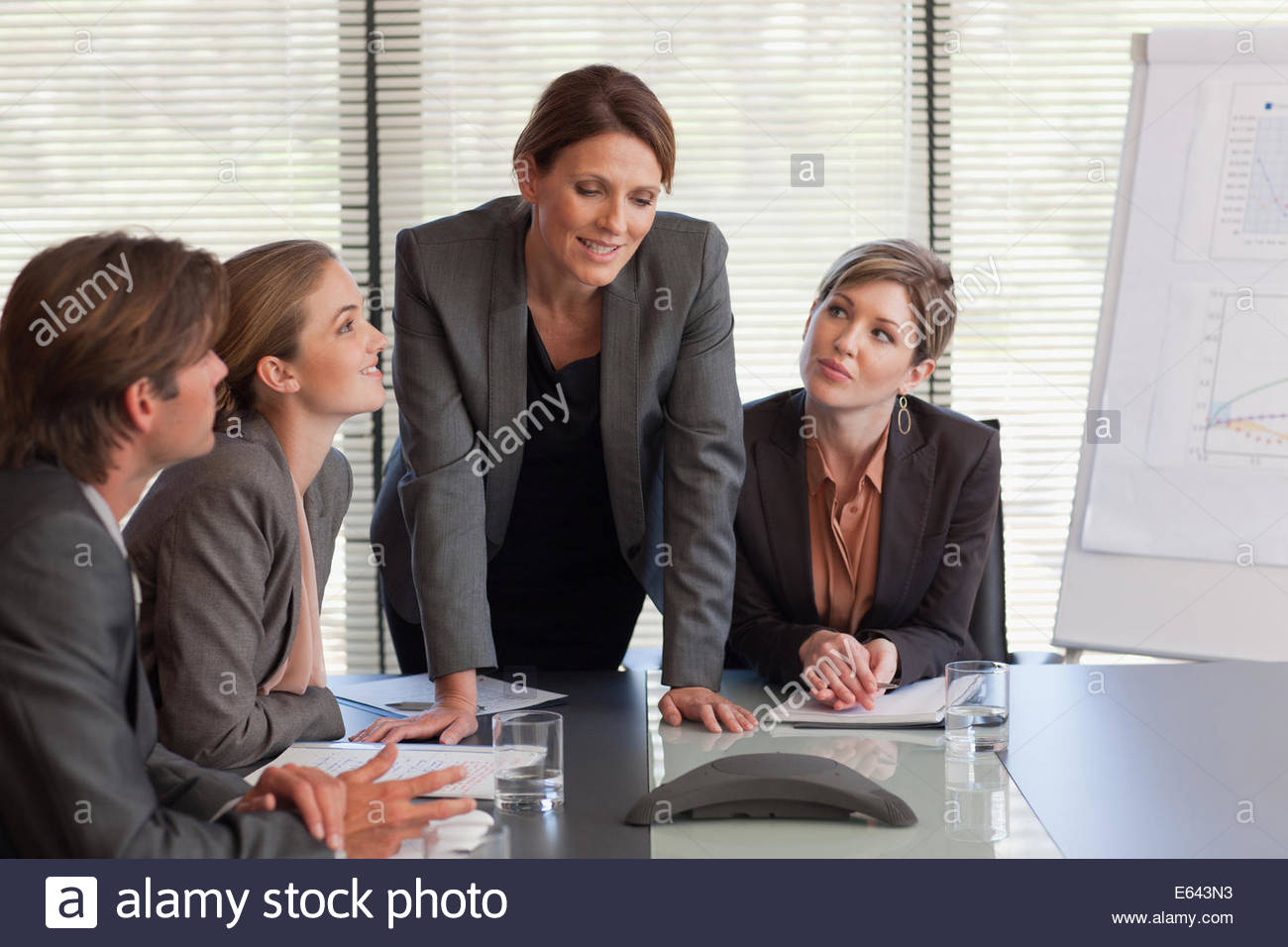 Business people on conference call - Stock Image