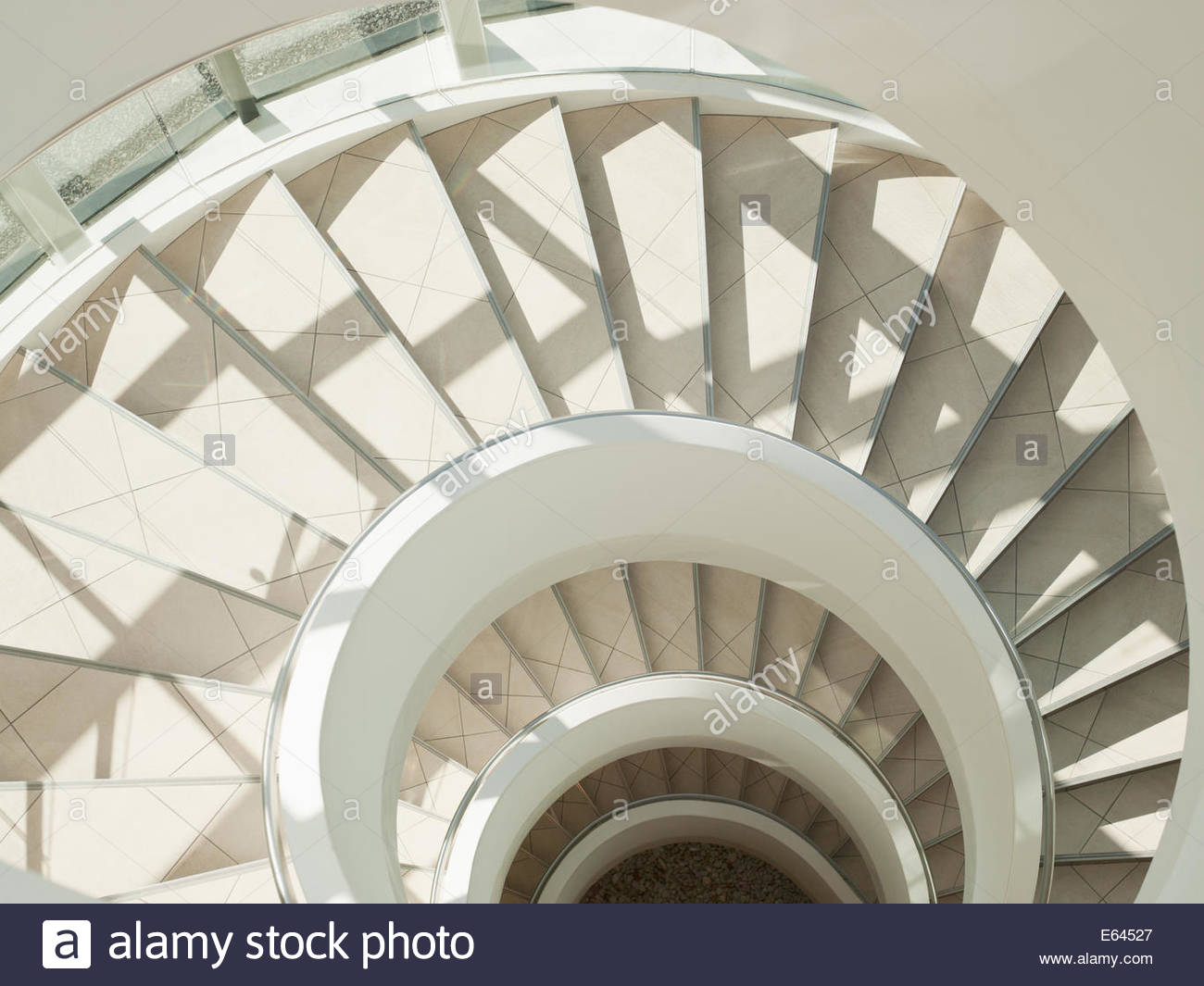 Stairway in office building - Stock Image